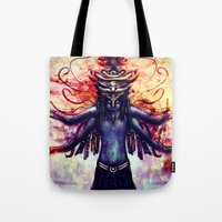 third eye Tote Bags featuring Third Eye by Ayula