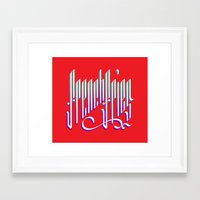 french fries Framed Art Prints featuring French Fries by makesake