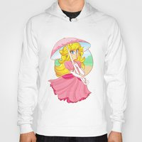 princess peach Hoodies featuring Princess Peach by zamiiz