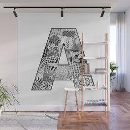Cutout Letter A Wall Mural
