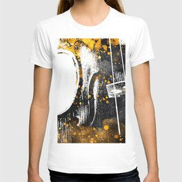 Violin music art gold and black #violin #music T-shirt