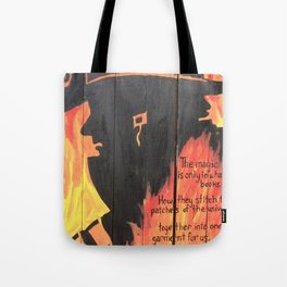 Burnt Pages Tote Bag