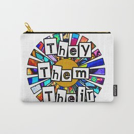 They Them Their Graffiti Sunrays Carry-All Pouch