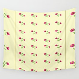 stand in line flowers Wall Tapestry