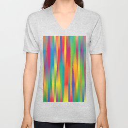 Paint Yourself In Stripe Unisex V-Neck