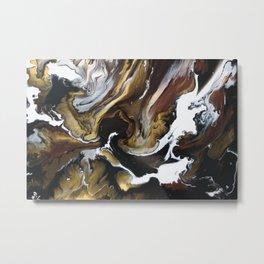 Metallic Storm Metal Print