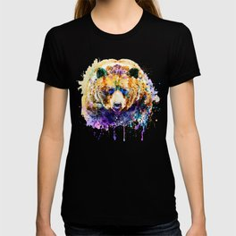 Colorful Grizzly Bear T-shirt