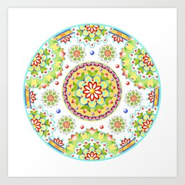 Lotus Mandala Art Print