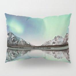 Northern Lights & Mountains Pillow Sham