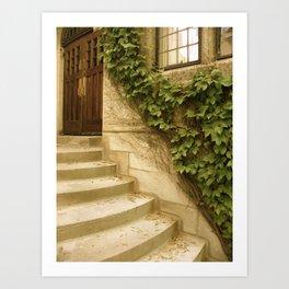Steps to an Old Church  Art Print