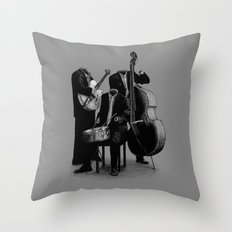 The Invisibles (On Grey) Throw Pillow