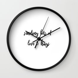 letter to Love Wall Clock