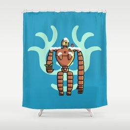 Christmas Laputa Robot Shower Curtain