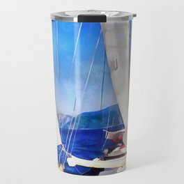 Land Was Created For Boats To Visit Travel Mug