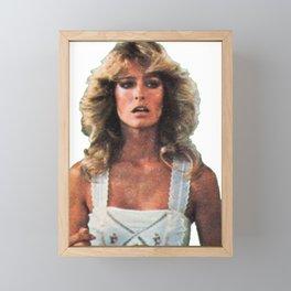 Farrah Fawcett Framed Mini Art Print