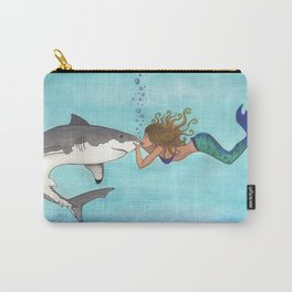 The Shark and the Mermaid Carry-All Pouch