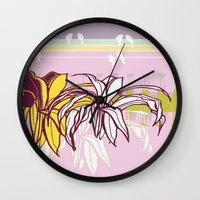 holiday Wall Clocks featuring holiday by Wyldbloom
