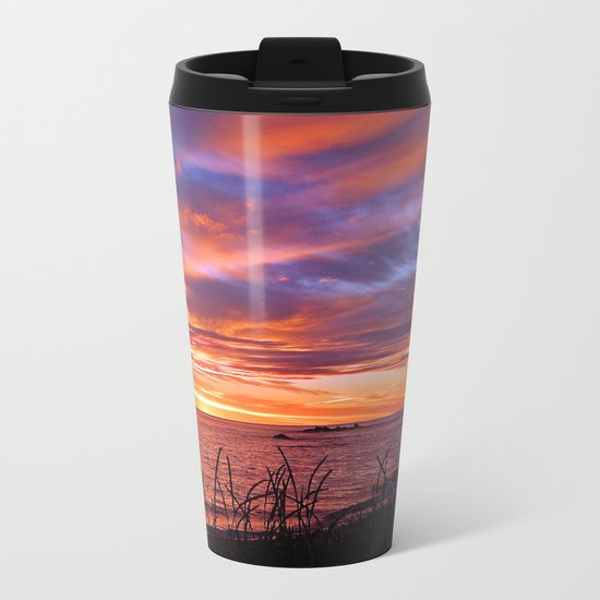 First Light at Sea Metal Travel Mug