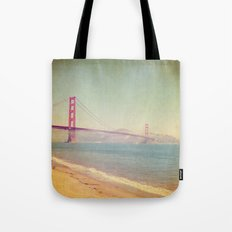 A Golden Day at the Beach Tote Bag