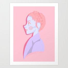Pastry girl (facing 'Lobby boy') Art Print
