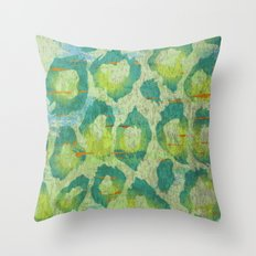 Leopard Jungle Throw Pillow