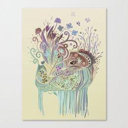 Thistle_tangle Canvas Print
