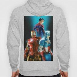 Civil War featuring Captain America, Spiderman, & Ironman Hoody
