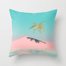Palm Tree Oasis Throw Pillow