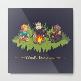 World Explorers Metal Print