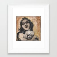 silence of the lambs Framed Art Prints featuring Playing Lambs by Colunga-Art