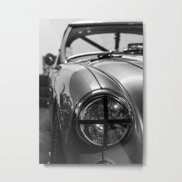Black 'n White Racer / Classic Car Photography Metal Print