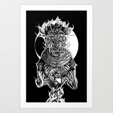 Nkulun Kulu meets the Chameleon Art Print