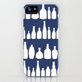 Bottles Navy iPhone Case