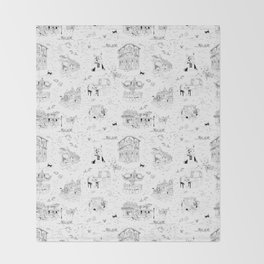 New Orleans Toile Throw Blanket