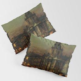 Classical Masterpiece 'Blackman Street, London' by John Atkinson Grimshaw Pillow Sham