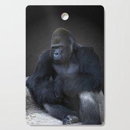 Portrait Of A Male Gorilla Cutting Board