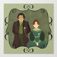jane eyre Canvas Prints featuring String (Jane Eyre) by Rebecca Brown