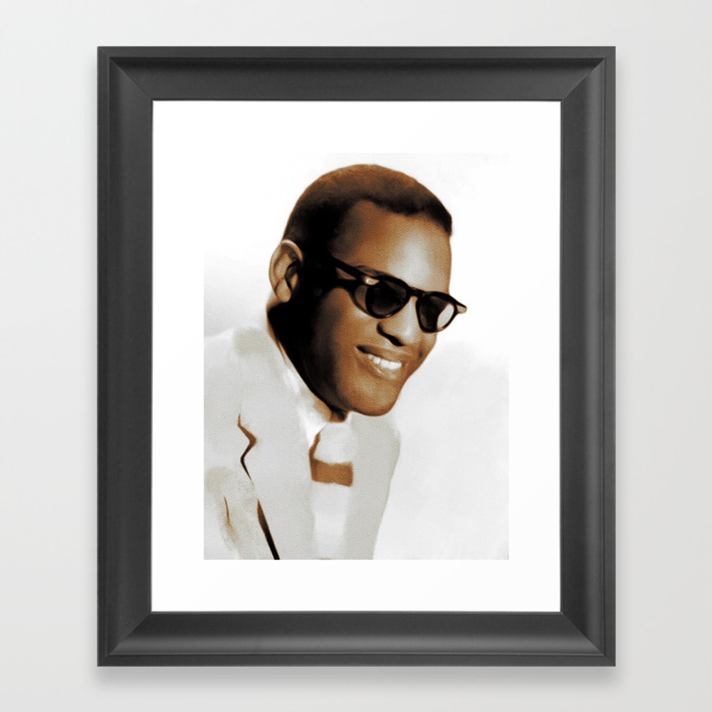Ray Charles, Music Legend Framed Art Print by Esotericaartagency FRM8697553