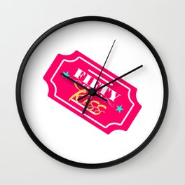 Kissing booth ticket Wall Clock