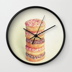 Stack of Donuts Wall Clock