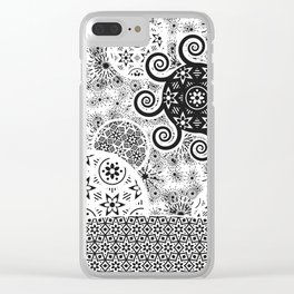 Celestial_Flora_01b Clear iPhone Case