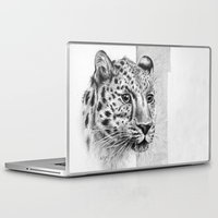 leopard Laptop & iPad Skins featuring Leopard by Anna Tromop Illustration