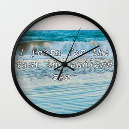I Yearn For The Sea Wall Clock