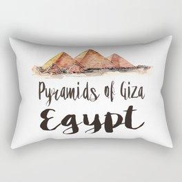 Pyramids of Giza watercolor Rectangular Pillow
