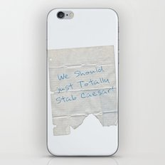 We Should Just Totally Stab Caesar! quote from the movie Mean Girls iPhone & iPod Skin