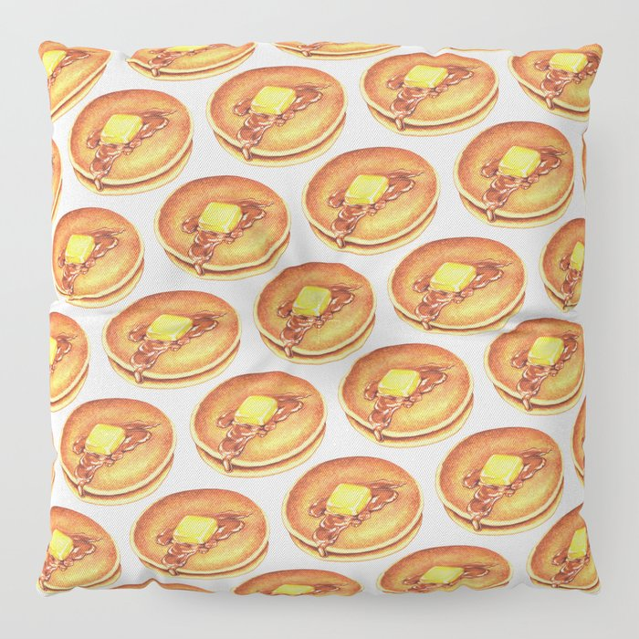 Pancakes Pattern Floor Pillow by kellygilleran | Society6