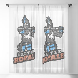 Gaming Champion Last One Standing Wins Badass Gamers Gift Idea Sheer Curtain