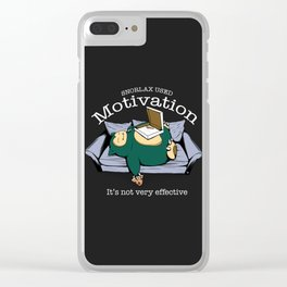 Nerd Motivation: it's not very effective Clear iPhone Case