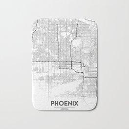 Minimal City Maps - Map Of Phoenix, Arizona, United States Bath Mat