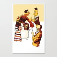 muppets Canvas Prints featuring Bert & Ernie Muppets by joshuahillustration
